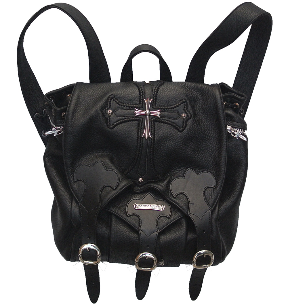 CHROME HEARTS LEATHER BACKPACK LG CROSS クロムハーツ レザー バックパック クロス