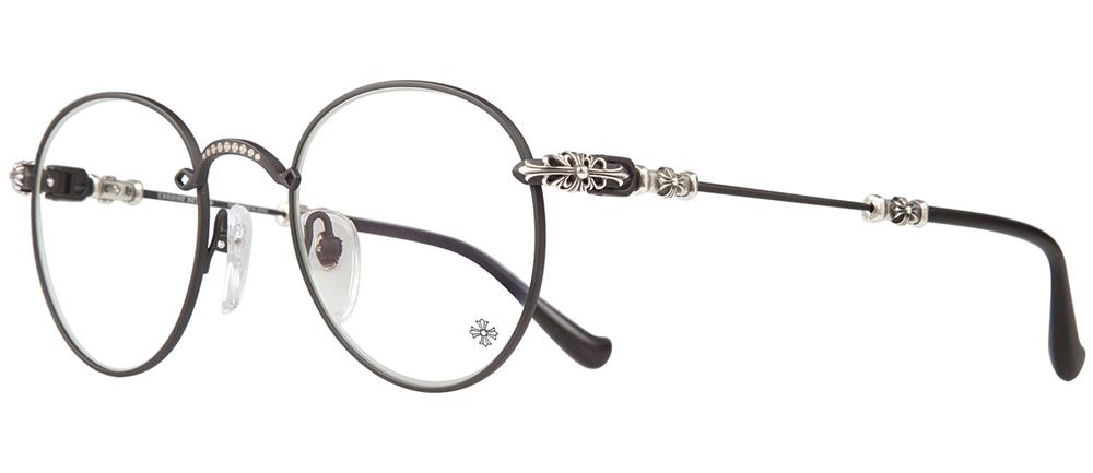 CHROME HEARTS BUBBA-A MATTE BLACK-PLASTIC 49-22-145 クロムハーツ アイウェア 眼鏡