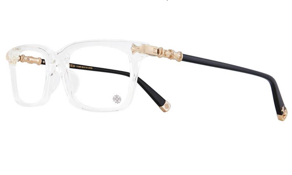 CHROME HEARTS FUN HATCH - A 54-18-148 CRYSTAL Black-18K Gold Plated クロムハーツ アイウェア 眼鏡 2020 Eyewear Glasses