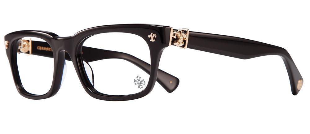 CHROME HEARTS GITTIN ANY? -A BLACK-GOLD PLATED 52-19-145 クロムハーツ アイウェア 眼鏡