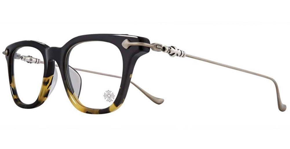 CHROME HEARTS GUZZLER Black Maize-Antique Silver 49-20-139 クロムハーツ アイウェア 眼鏡