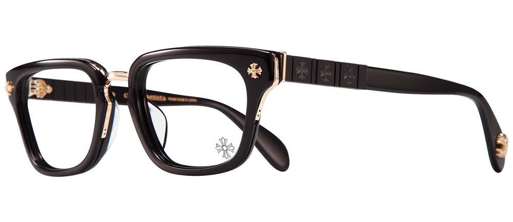 CHROME HEARTS SLHOREGASM BLACK GOLD PLATED 51-20-148 アイウェア 眼鏡