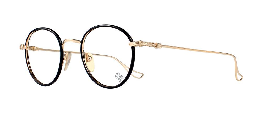 CHROME HEARTS SINNERGASM Black Gold Plated 51-21-145 クロムハーツ アイウェア 眼鏡 2019 EYEWEAR