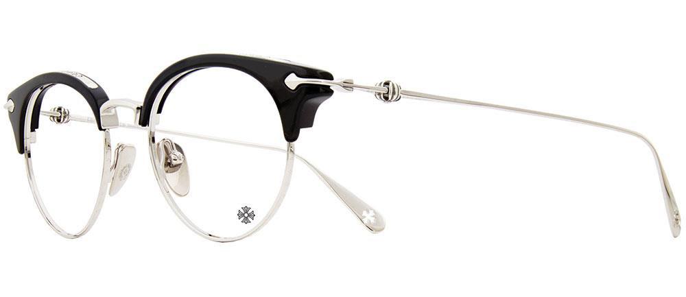 CHROME HEARTS SLUNTRADICTION II-A 48-20-141 Black Shiny Silver クロムハーツ アイウェア 眼鏡 2019 EYEWEAR