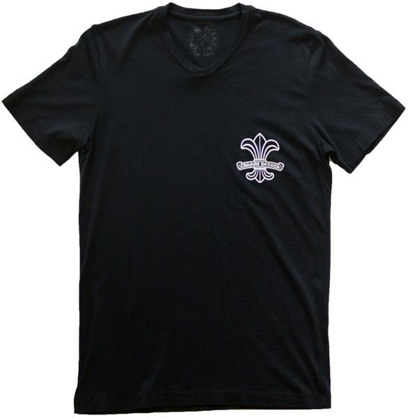 CHROME HEARTS T-SHIRT MENS BS FLEUR クロムハーツ 半袖Tシャツ BSフレア ブラック【中古】