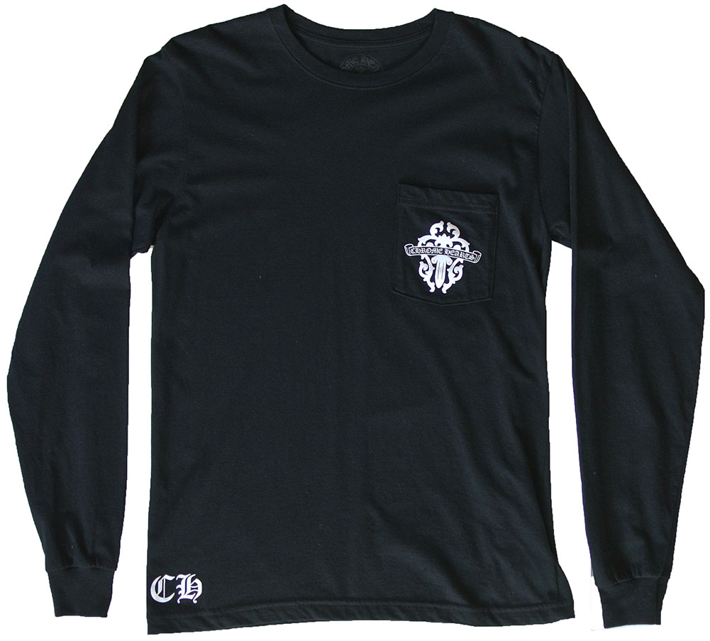 CHROME HEARTS STAFF T-SHIRT DAGGER クロムハーツ STAFF Tシャツ 長袖【中古】