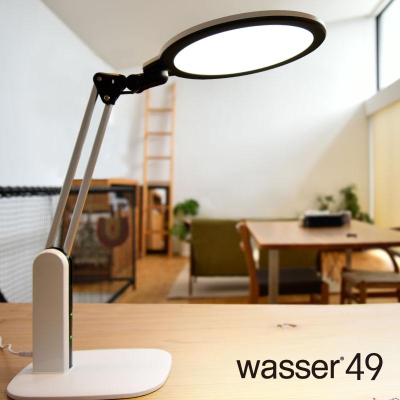 LEDデスクスタンド 光感知センサー 面光源 電気スタンド スタンドライト 卓上ライト おしゃれ 目に優しい wasser 在宅勤務 テレワーク おすすめ