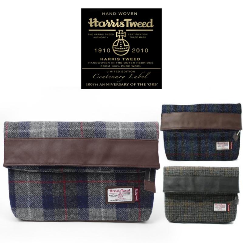 【送料無料】Harris Tweed ハリスツイード クラッチバッグ CLUTCH BAG 【クラッチ ツイード 秋 冬 カバン 鞄 持ち運び オシャレ クラッチバッグ メンズ】【送料込み】