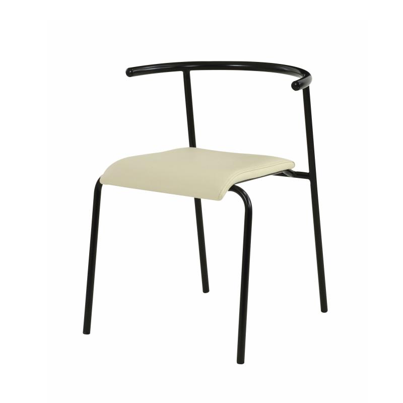ダイニングチェア エーデルチェア 東谷 シンプル おしゃれ 椅子 重ね置き可能 ブラック アイボリー AZUMAYA 細脚 丈夫(メーカー直送、代引き不可)