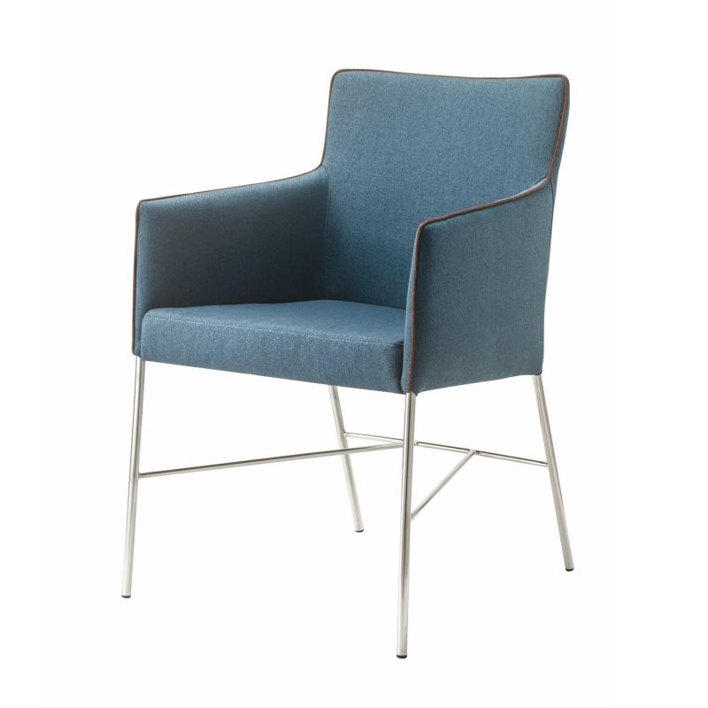 アジャートチェア 東谷 椅子 ネイビー グレー オフィス リビング 会議室 金属 エレガント シンプル チェア お客様用 AZUMAYA お洒落(メーカー直送、代引き不可)