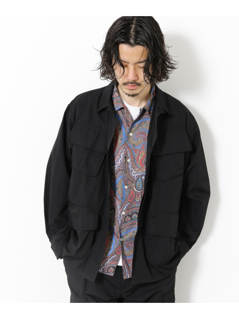 Sonny Label メンズ 誕生日/お祝い コート ジャケット サニーレーベル ARMY TWILL ベージュ 公式通販 ブラック 送料無料 Fatigue Rakuten Fashion Jacket ミリタリージャケット