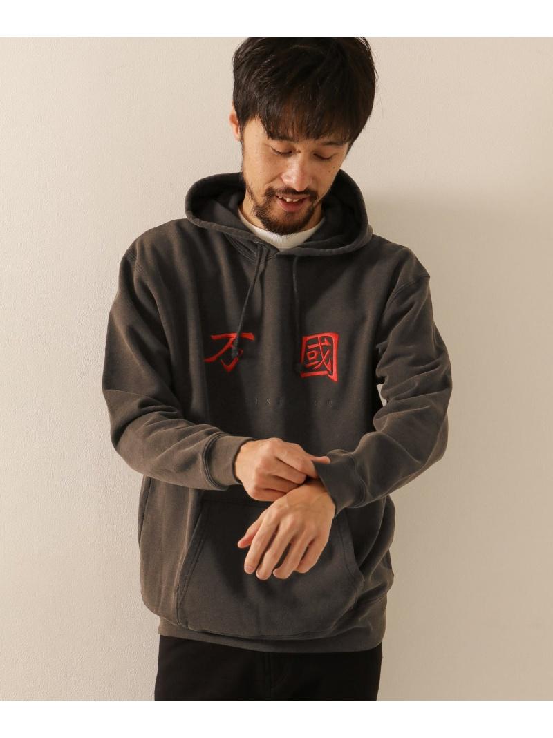 [Rakuten Fashion]RICE NINE TEN BLEACHED COEXISTENCE HOODIE Sonny Label サニーレーベル カットソー パーカー ブラック ゴールド【送料無料】