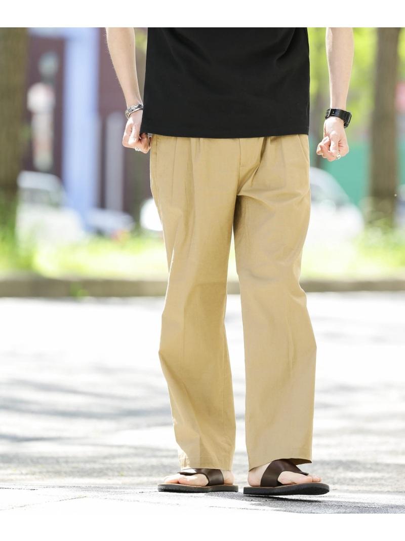 SonnyLabel_0628_tshirts Sonny 驚きの値段 Label メンズ パンツ ジーンズ サニーレーベル SALE スーパーセール期間限定 RBA_E パンツその他 グレー ブラウン リネンタックワイドパンツ Rakuten Fashion 60%OFF