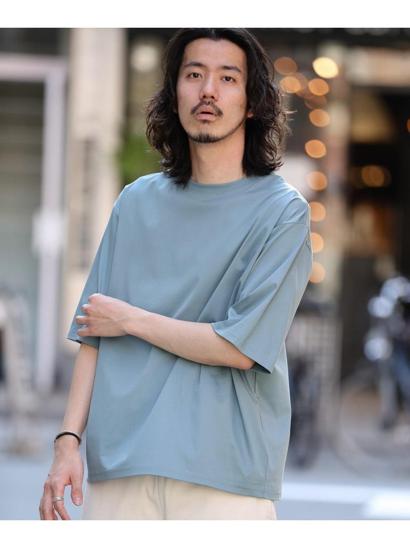 Sonny Label メンズ カットソー サニーレーベル SALE 30%OFF 接触冷感 ホワイト 至上 Fashion 豪華な ブルー RBA_E リラックスシルケットTシャツ ブラック Rakuten Tシャツ