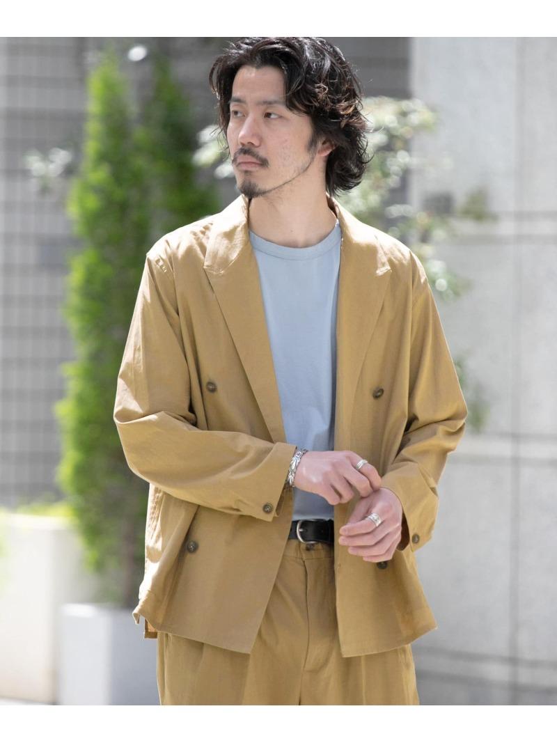 [Rakuten Fashion]リネンワイドダブルジャケット Sonny Label サニーレーベル コート/ジャケット コート/ジャケットその他 ブラウン【送料無料】