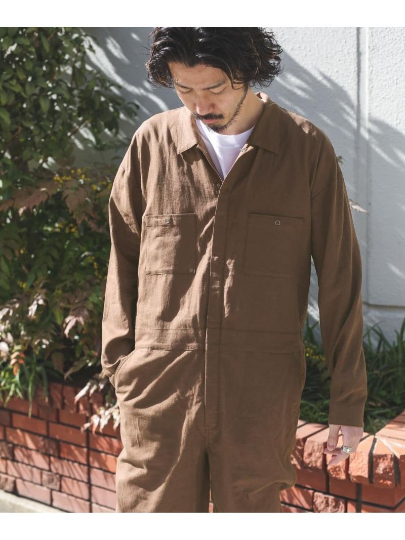 [Rakuten Fashion]リネンジャンプスーツ Sonny Label サニーレーベル パンツ/ジーンズ サロペット/オールインワン ブラウン ブラック【送料無料】