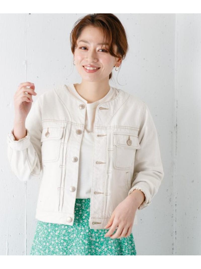 [Rakuten Fashion]MonameCREWNECKJEANJACKET Sonny Label サニーレーベル コート/ジャケット デニムジャケット ホワイト【送料無料】