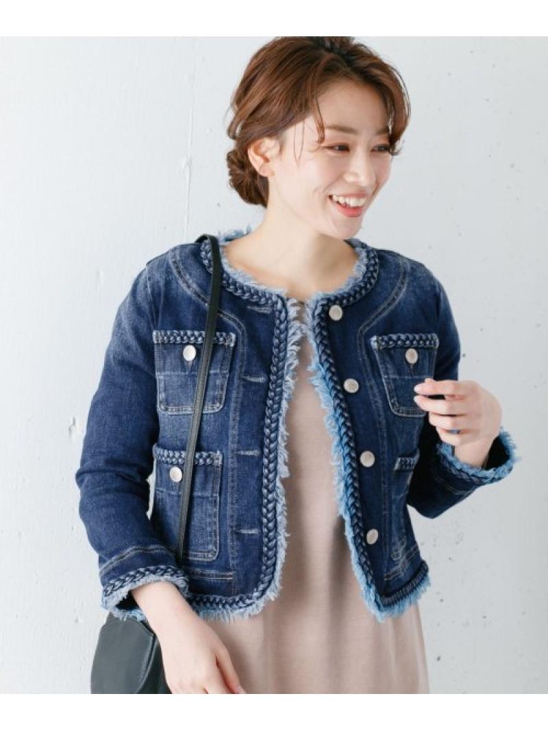 [Rakuten Fashion]MonameBRAIDJACKET Sonny Label サニーレーベル コート/ジャケット デニムジャケット ブルー【送料無料】