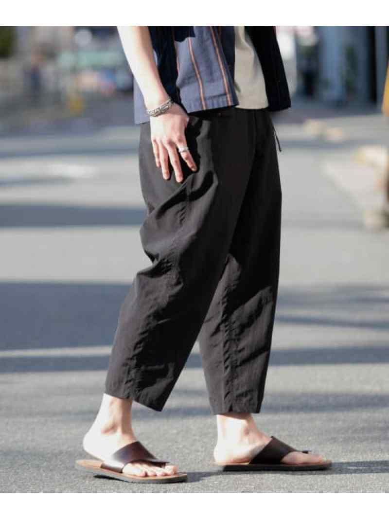 [Rakuten Fashion]WILDTHINGS別注supplexWIDECROPPED Sonny Label サニーレーベル パンツ/ジーンズ クロップド/半端丈パンツ ブラック グレー【送料無料】