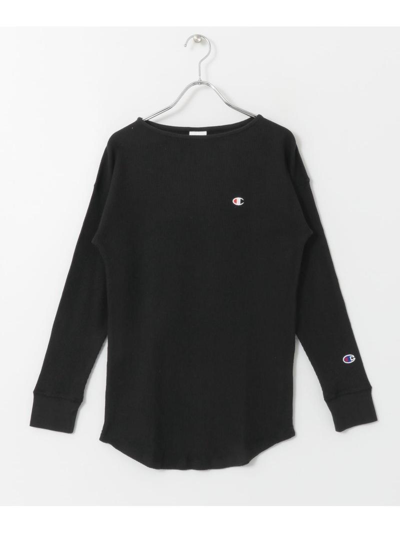 オンライン限定商品 Sonny Label レディース お金を節約 カットソー サニーレーベル Rakuten Fashion Champion ホワイト LONG TUNIC SHIRTS ブラック Tシャツ 送料無料 SLEEVE