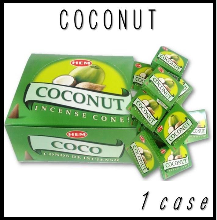 ココナッツ香 コーンタイプHEM COCONUT CORN 送料無料♪★フルーティーで甘い香りのココナッツ!★コーンタイプコーンタイプ 12箱1箱10個なので120個分ゆうパケットで送料無料ポスト投函でお送りします