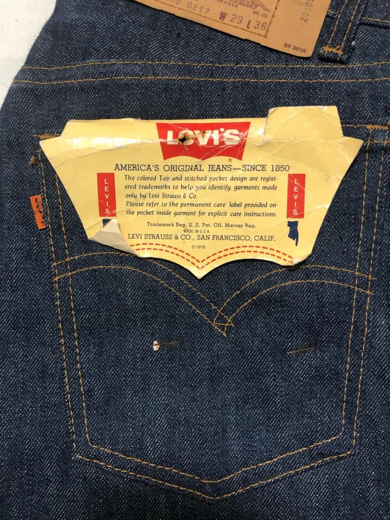 【中古】Levi's/リーバイス/jeans/ジーンズ/denim/denim/20505 0217/パンツ/pants/ヴィンテージ/vintage/70s~80s/デッドストック/古着/アメリカ古着/US古着/古着屋sleep/千葉/船橋/