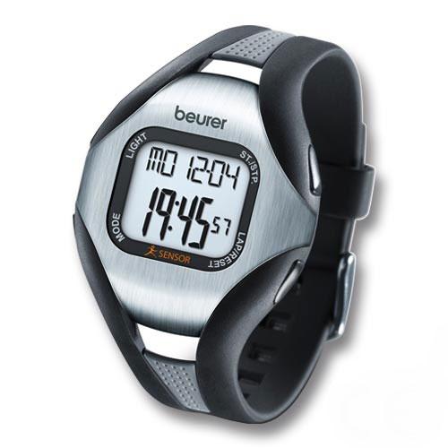 ドイツ製 防水50m 心拍計腕時計 マラソンに ジョギングに 健康管理に バウアー/beurerPM18送料無料■