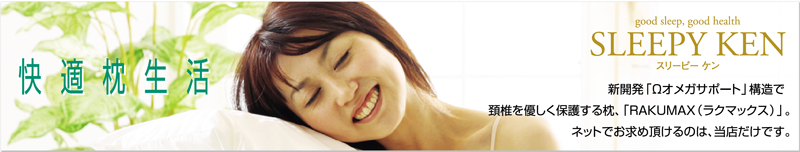 SLEEPY KEN 快適枕生活:首にやさしい低い枕 RAKUMAX