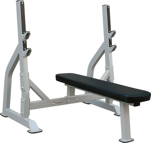 【送料無料】フラットベンチ[impulse/インパルス][Slim Fit Gym スリムフィット] ジム スタジオ プロ 本格的 トレーニングマシン フィットネス