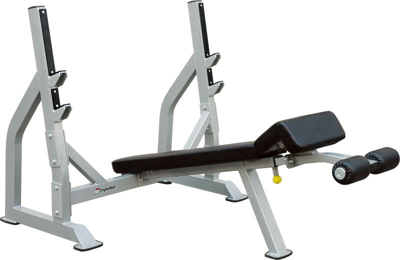 【送料無料】デクラインベンチ[impulse/インパルス][Slim Fit スリムフィット] ジム スタジオ プロ 本格的 トレーニングマシン フィットネス