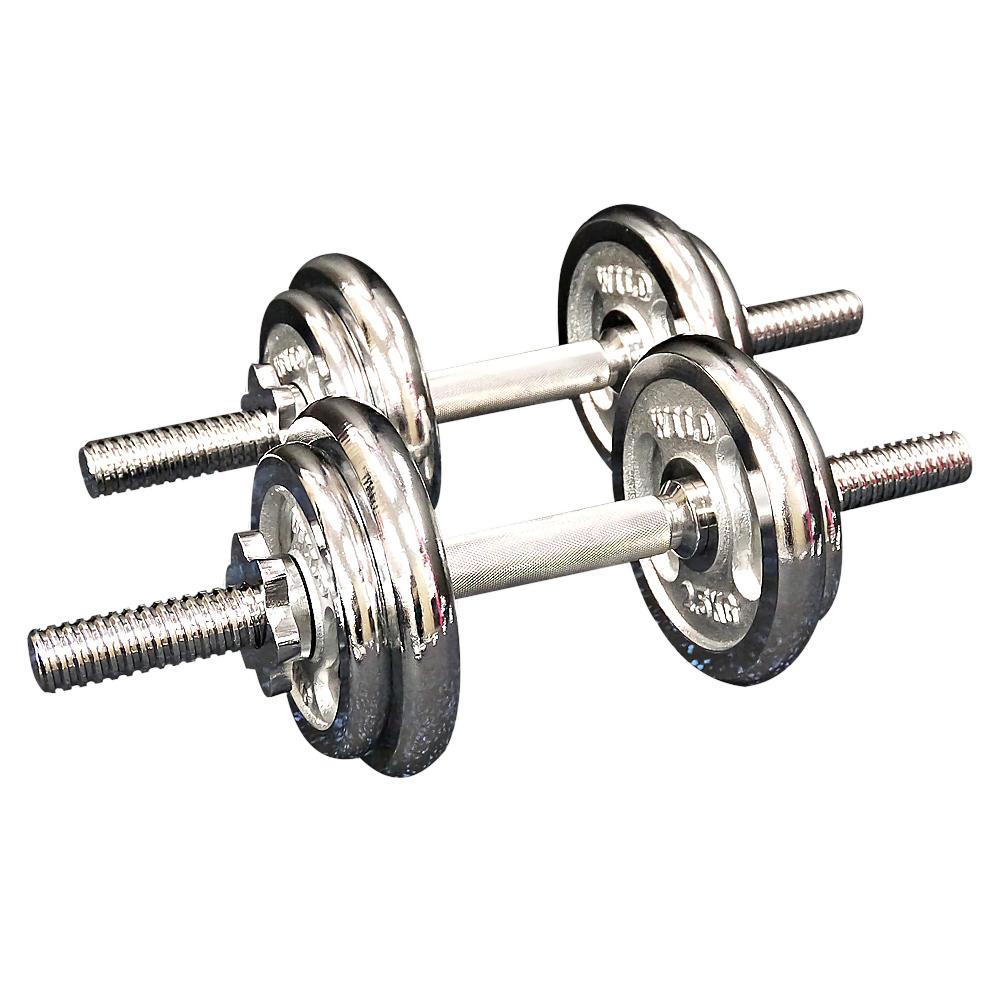 クロームダンベルセット20kg[Slim Fit Gym スリムフィット] 送料無料