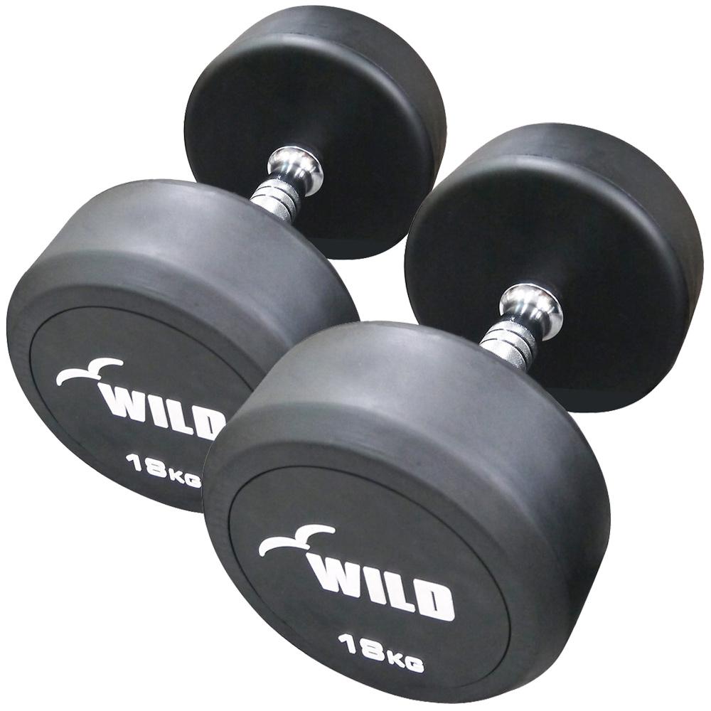 固定式ダンベル 18kg WF 2本セット[Slim Fit スリムフィット]送料無料 ダンベル ウエイト 筋トレ トレーニング 腹筋 背筋 ベンチプレス ジム 鉄アレイ