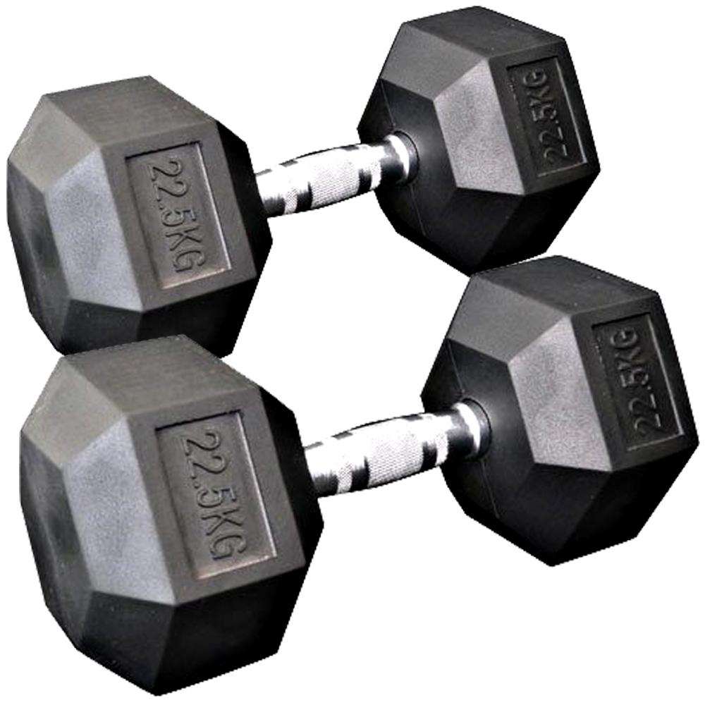 固定式六角ダンベル22.5kg 2本セット[Slim Fit スリムフィット] 送料無料 ダンベル バーベル ウエイト 筋トレ トレーニング 腹筋 背筋 ベンチプレス ジム