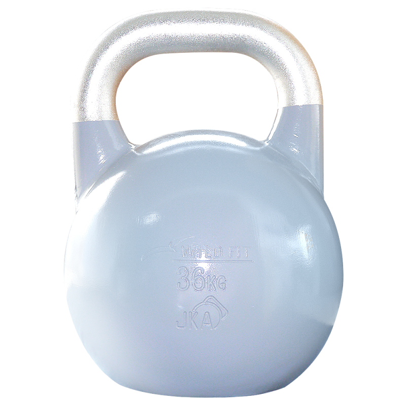 JKA公認ケトルベル 36kg グレー[WILD FIT ワイルドフィット] 送料無料 ウエイト トレーニング ダンベル 筋トレ 握力