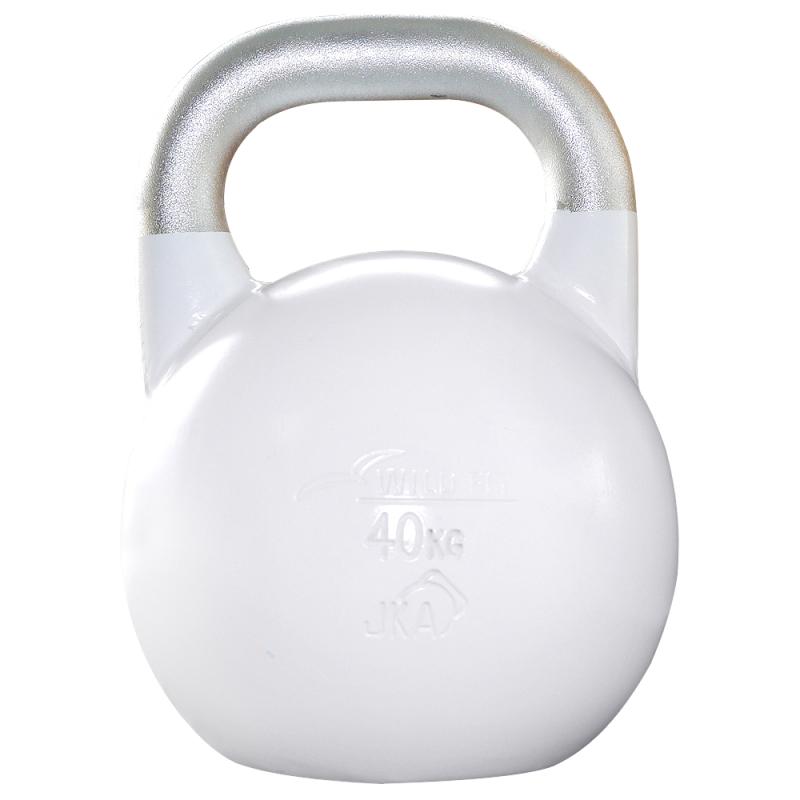 JKA公認ケトルベル 40kg ホワイト[Slim Fit スリムフィット] 送料無料 ウエイト トレーニング ダンベル 筋トレ 握力