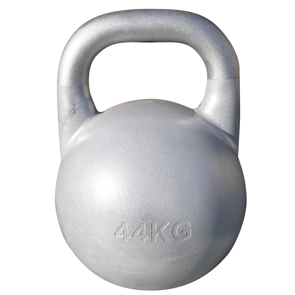 JKA公認ケトルベル 44kg シルバー[WILD FIT ワイルドフィット] 送料無料 ウエイト トレーニング ダンベル 筋トレ 握力