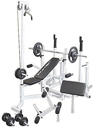 マルチトレーニングジムセット アイアン70kg[WILD FIT ワイルドフィット] 送料無料 バーベル ベンチプレス トレーニングマシン 自宅 スクワット 大胸筋 腹筋