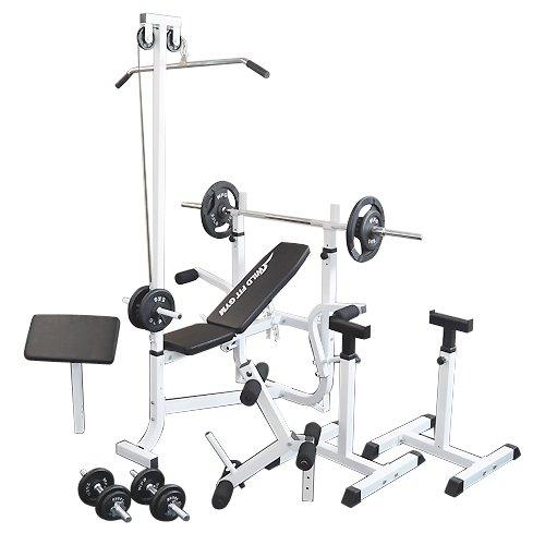 マルチセーフティージムセット アイアン70kg[WILD FIT ワイルドフィット] 送料無料 バーベル ベンチプレス トレーニング ウエイト プレート スクワット 大胸筋 腹筋
