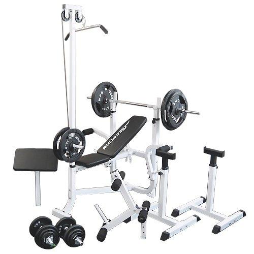 マルチセーフティージムセット アイアン140kg [WILD FIT ワイルドフィット] 送料無料 バーベル ベンチプレス トレーニング器具 スクワット 大胸筋 腹筋