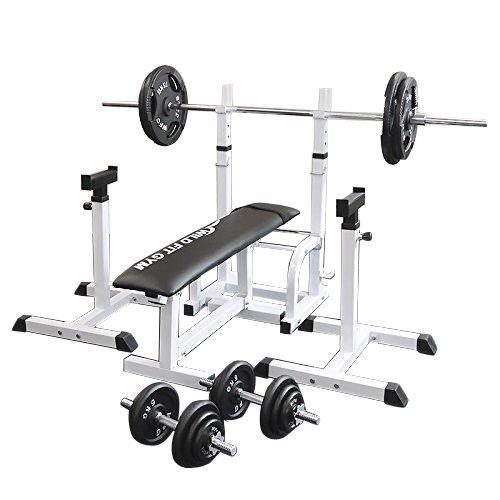 フォールディングジムセット アイアン100kg[Slim Fit スリムフィット] 送料無料 バーベル ダンベル ベンチプレス トレーニング器具 大胸筋 腹筋 上腕筋