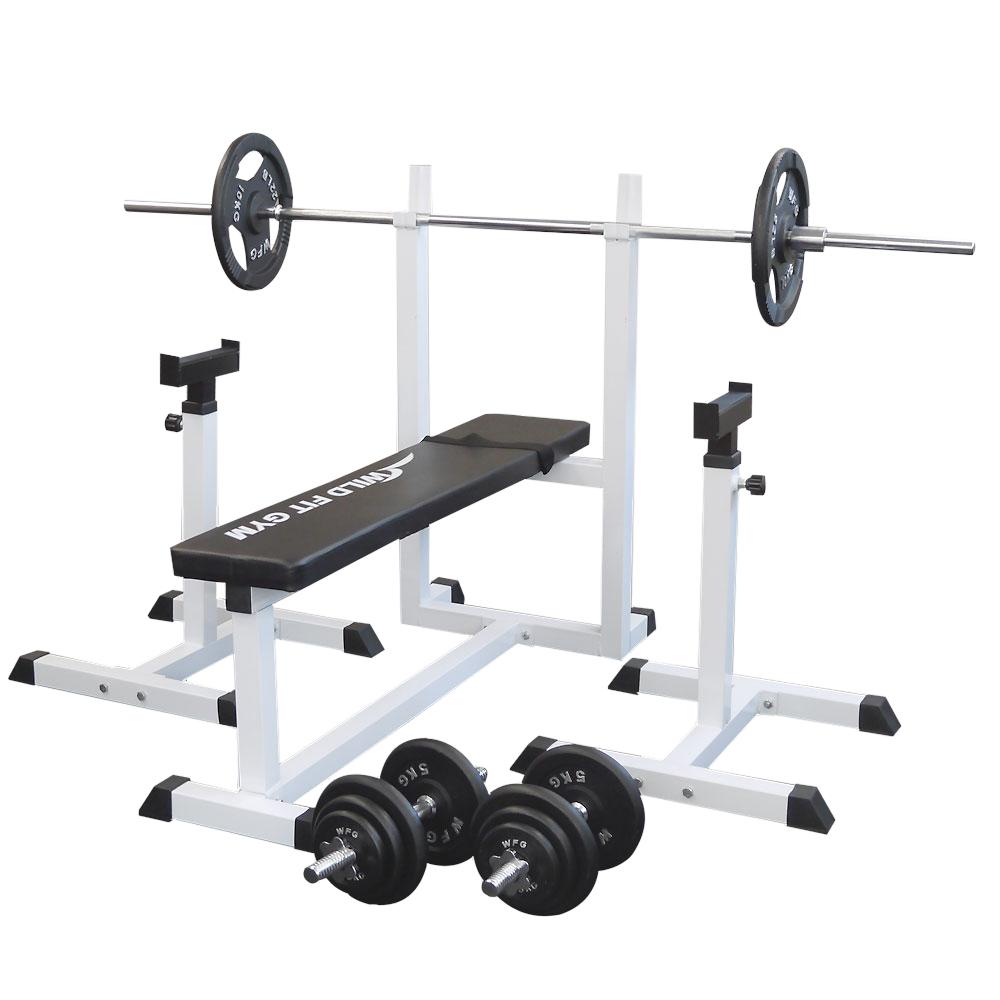 トレーニングジムセット アイアン70kg[Slim Fit スリムフィット] 送料無料 バーベル ダンベル ベンチプレス トレーニング器具 自宅 大胸筋 腹筋 上腕筋