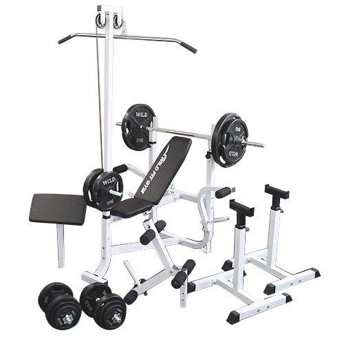 マルチセーフティージムセット 黒ラバー140kg [Slim Fit スリムフィット] 送料無料 バーベル ベンチプレス トレーニング器具 スクワット 大胸筋 腹筋