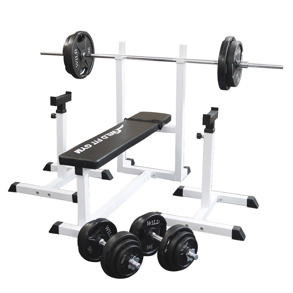 トレーニングジムセット 黒ラバー100kg[Slim Fit スリムフィット] 送料無料 バーベル ダンベル ベンチプレス トレーニング器具 自宅 大胸筋 腹筋 上腕筋