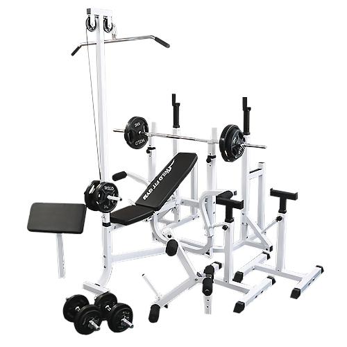 マルチフルセット 黒ラバー70kg[WILD FIT ワイルドフィット] 送料無料 バーベル ベンチプレス トレーニング器具 自宅 マルチベンチ スクワット 大胸筋 腹筋