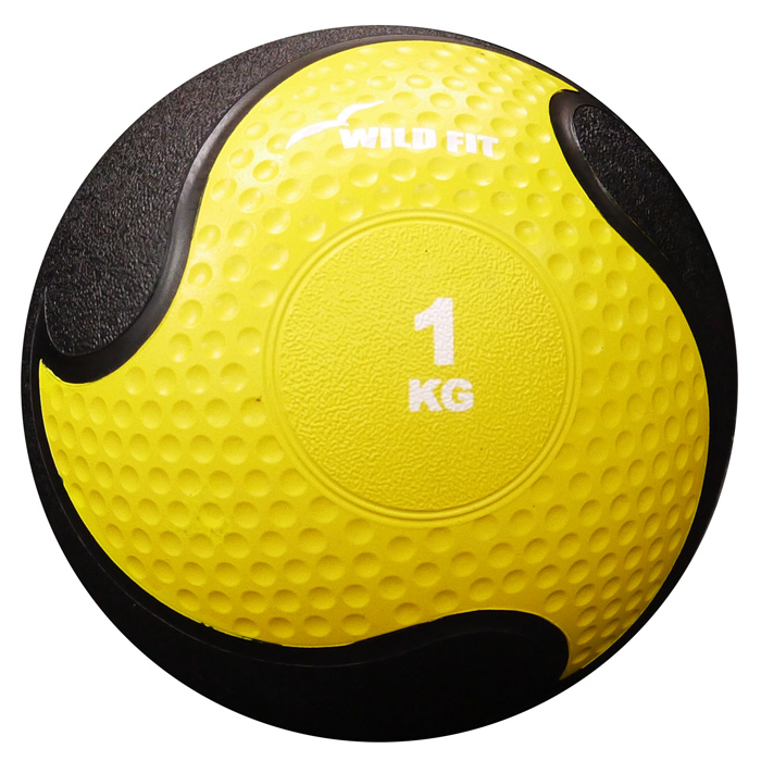 メディシンボール 黄 1kg[WILD FIT ワイルドフィット] 送料無料 筋トレ トレーニング 腹筋 側筋 サーキットトレーニング