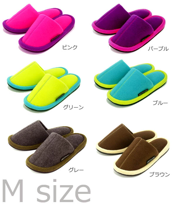 Thank you, keeping warm on HEAT walks bibit color slippers medium size thermal insulation seat sold out♪