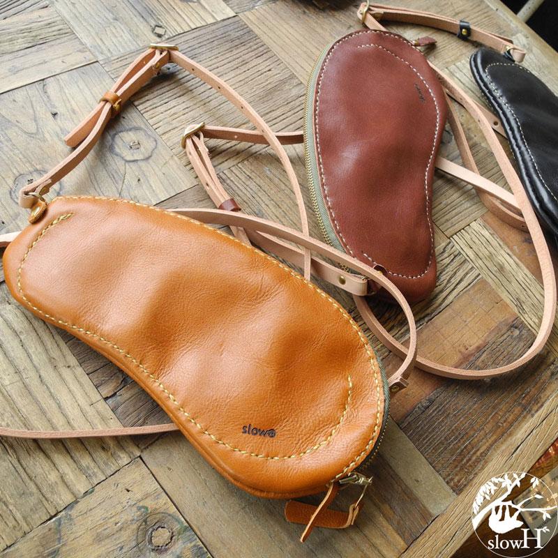 <送料無料>スマホも入るお財布バッグ「slowH Holden」【全て手縫いのレザーバッグ】