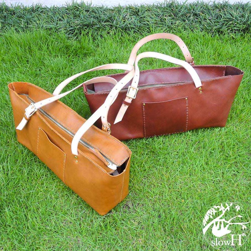 <送料無料>大容量の横長本革トートバッグ「Fifteen」【全て手縫いのレザーバッグ】