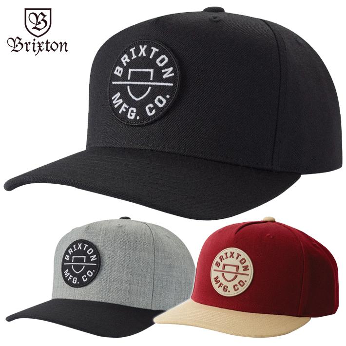 BRIXTON ブリクストン スナップバック キャップ 帽子 CREST C メンズ レディース 登場大人気アイテム MP スケボー CAP ストリート サーフィン 品質保証
