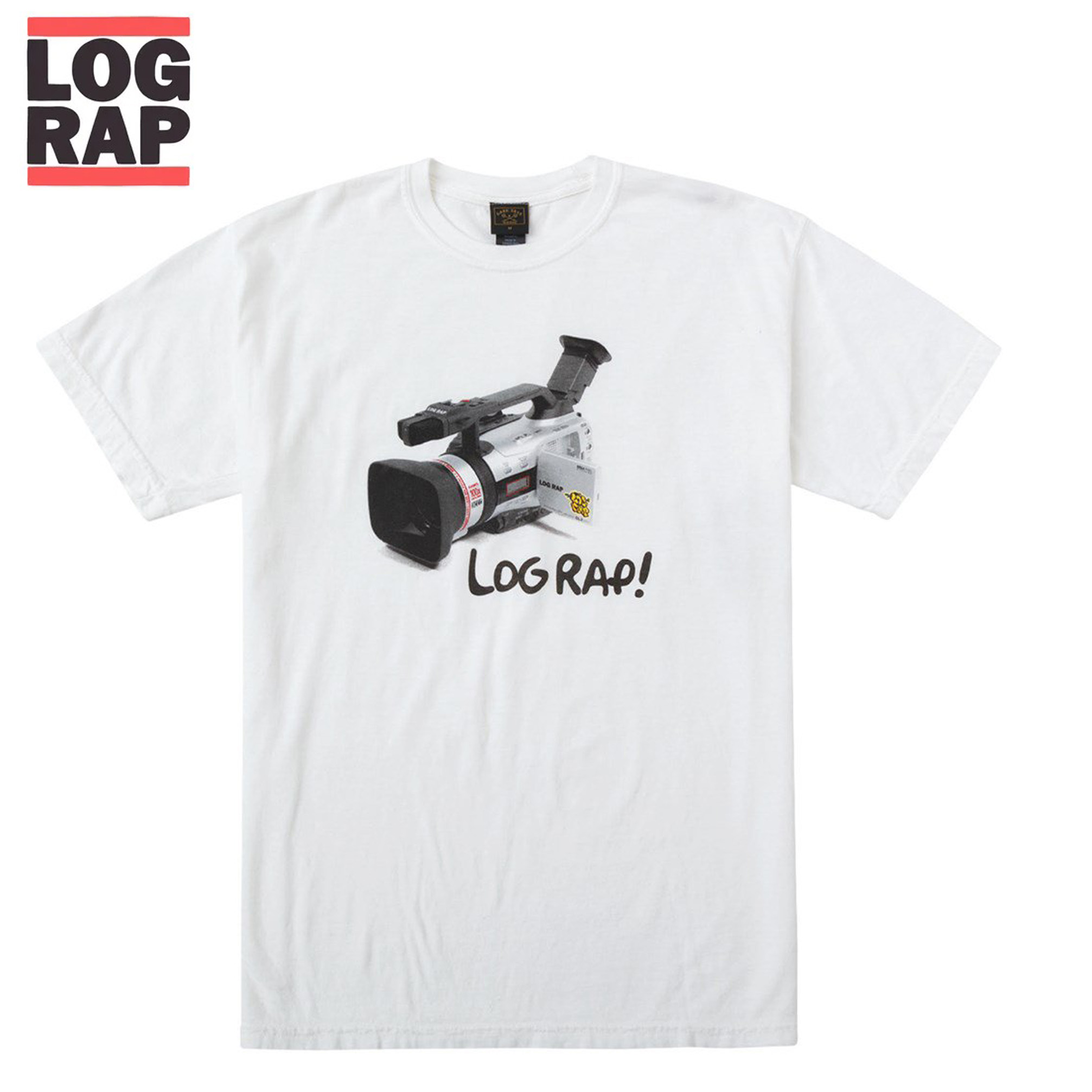 ロングボードとヒップホップを掛け合わせた映像などで話題のLOG RAP LOG ログラップ Tシャツ × DARK SEAS メール便対応商品 半袖Tシャツ Tee MOONSUITS限定商品 輸入 現金特価 サーフボード サーフィン ロングボード White